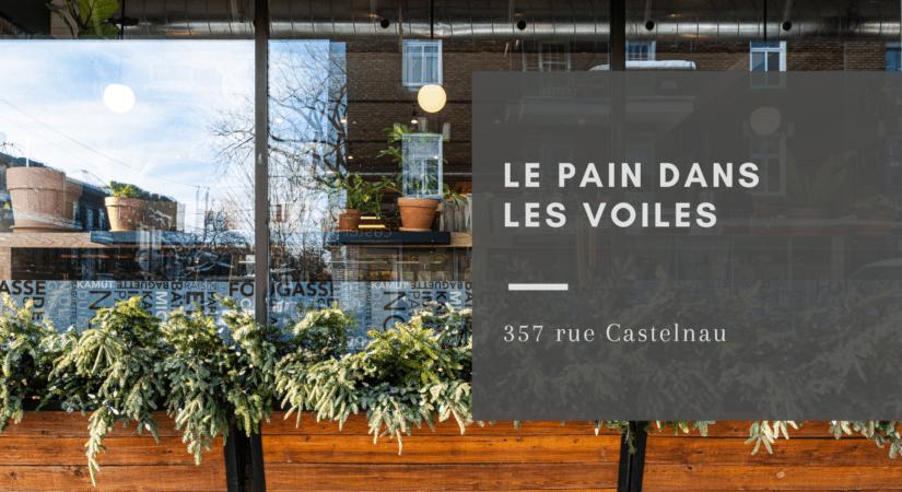 Façade de la boulangerie à Villeray Le Pain dans les Voiles