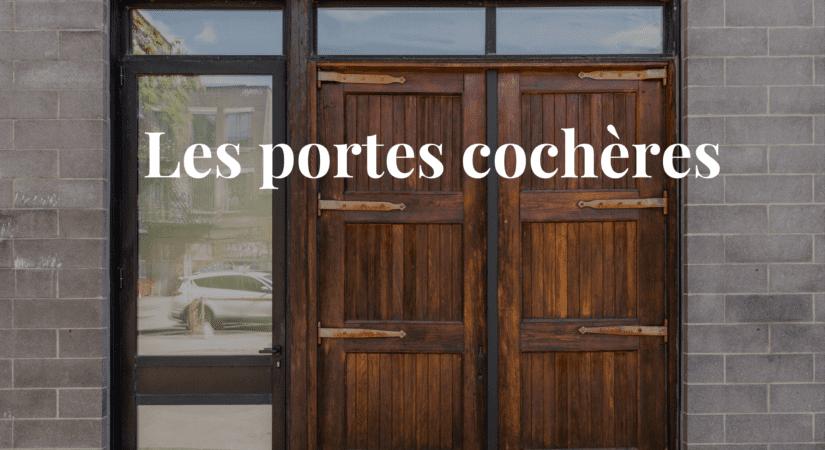 Les portes cochères à Montréal
